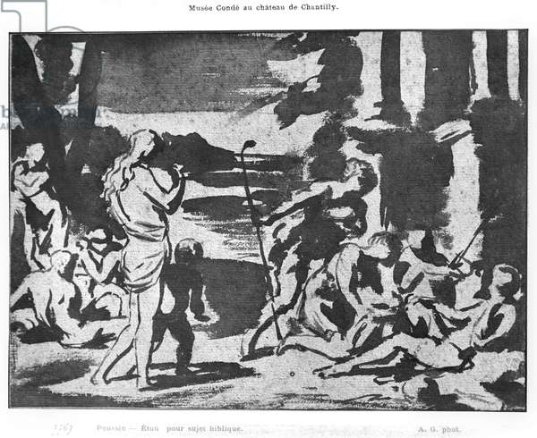 The Offering of the Shepherds (brush & brown wash over black chalk) (b/w photo)