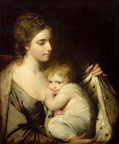 Maria Walpole (1735-1807) Countess of Waldegrave and her Daughter, Elizabeth Laura (1760-1816) 1761 (oil on canvas)