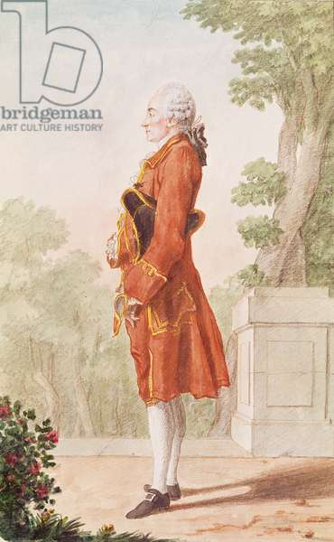 Chevalier de Clermont d'Amboise, Portuguese Ambassador (pencil, w/c & gouache on paper)