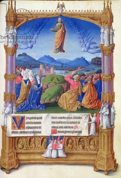 ms. 65/1284 fol. 184v The Ascension, from the 'Très Riches Heures du Duc de Berry' (vellum)