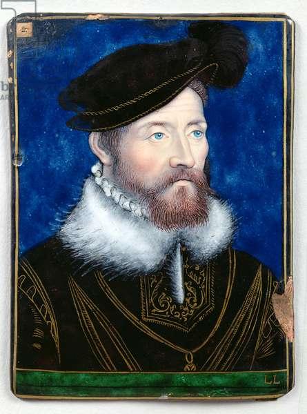 Antoine de Bourbon (1607-32) Count of Moret (oil on enamel)