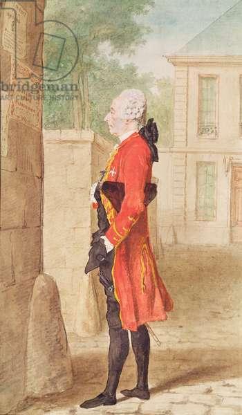 Le Bailli de Guines, 1765 (pencil, w/c & gouache on paper)