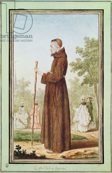 Father Hubert, 1786 (w/c on paper)