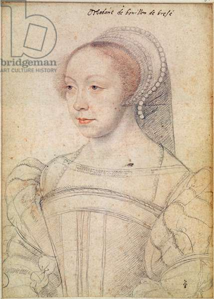 Portrait of Francoise de Breze (c.1519-74) c.1550 (pencil on paper)