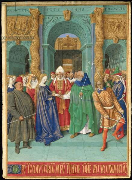 Ms Fr 71 fol.4 The Marriage of the Virgin (vellum)
