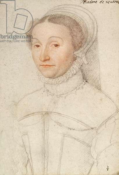 Hardouine de Champagne (1525-58) Baronne de Neubourg (1525-58) c.1559 (pencil on paper)