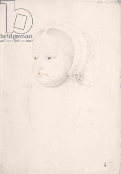 Madeleine of France as a child, 1524 (pencil on paper)