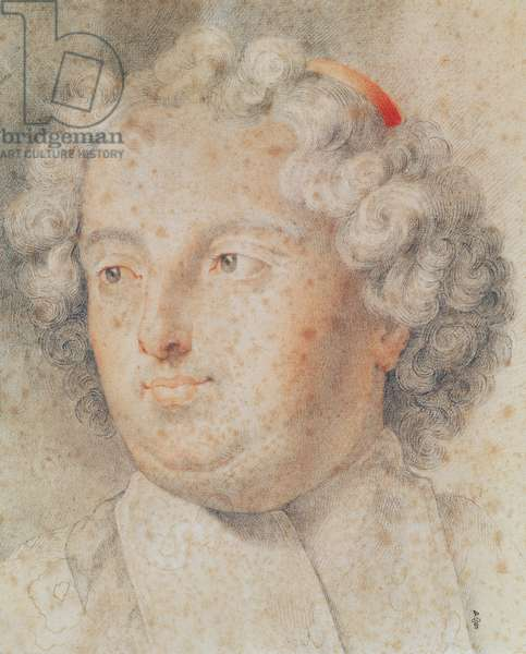 Cardinal de Rohan, 1715 (crayon & wash on paper)