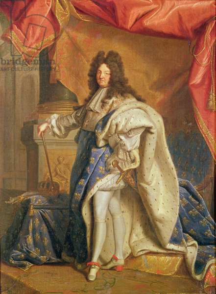Study for a Portrait of Louis XIV (1638-1715) in Royal Costume, c.1701 (oil on canvas)