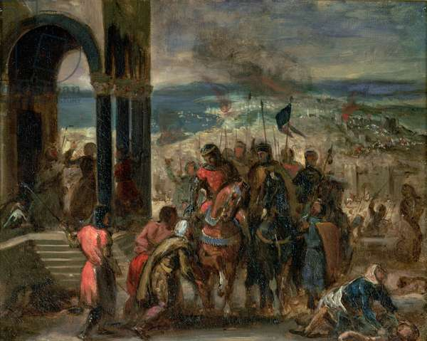 The Capture of Constantinople by the Crusaders in 1204 (oil on canvas)