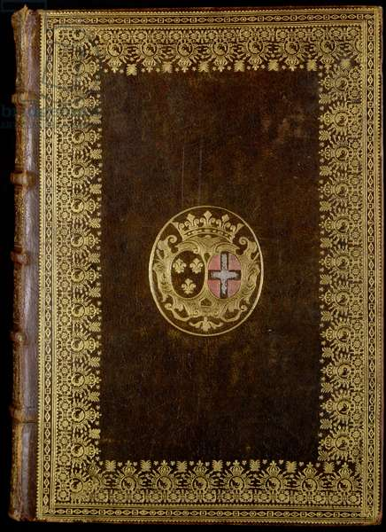 Ms 76/1362 The Book of Hours of the Duchess of Burgundy with her coat of arms (leather)