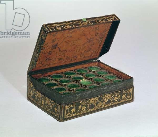 Jean Grolier's medal case (leather)