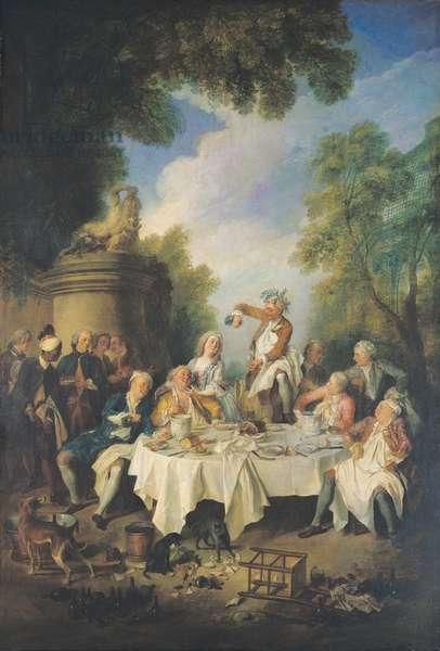 Le Dejeuner de Jambon, 1735 (oil on canvas)