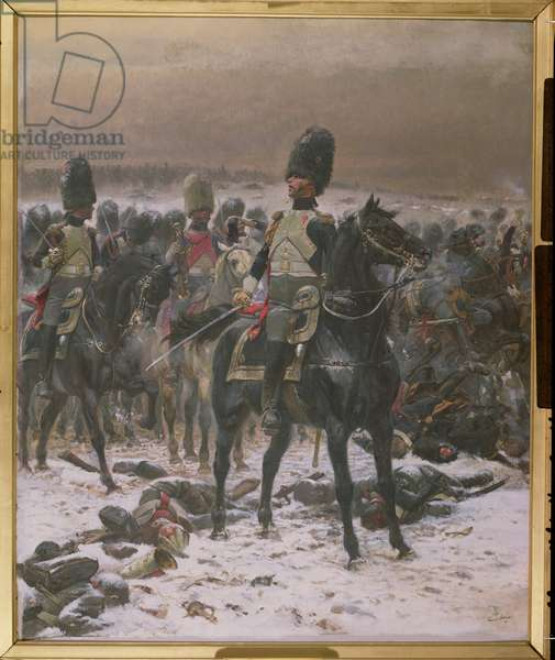 Horse Guards at Eylau (oil on canvas)