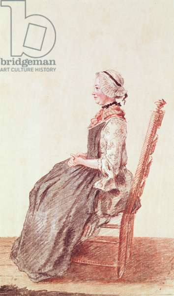 Mademoiselle Rousselet, 1759 (red chalk & pencil on paper)