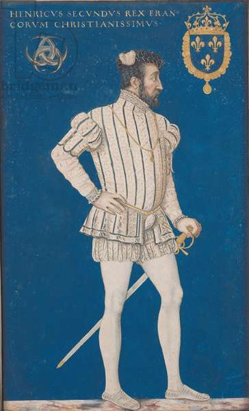 Portrait of Henri II (1519-59) of France (w/c on paper)