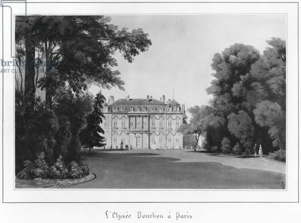 The Elysee Palace, Paris, 1846 (w/c on paper) (b/w photo)