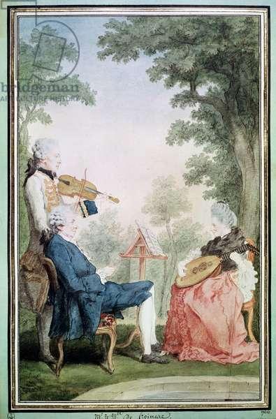 Monsieur and Mademoiselle de Croismare (w/c on paper)9