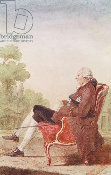 Prince Camille de Lorraine (b.1725) (pencil, w/c & gouache on paper)