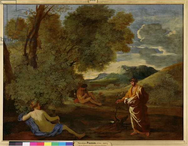 Landscape with Numa Pompilius and the Nymph Egeria, 1624-27 (oil on canvas)