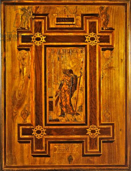 Detail of chapel woodwork depicting St. James the Greater, 1548 (wood)