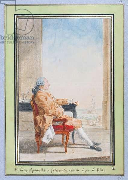 Monsieur Lioncy (pencil, w/c & red chalk on paper)
