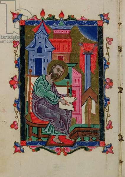 Ms 14/1353 An Evangelist, from a Gospel, from Crimea, 1679 (vellum)
