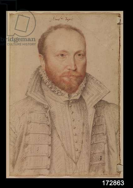 Portrait of Antoine de Crussol (1525-73) Duc d'Uzes (pencil on paper)