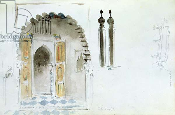 Moorish Gate, from 'Album of a Voyage to Spain, Morocco and Algeria', 1834 (w/c on paper)