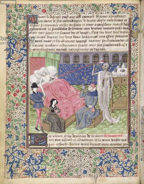 Ms 146/1513 The tears and the suffering of Death, written by Jean Charlier de Gerson (1363-1429) (vellum)