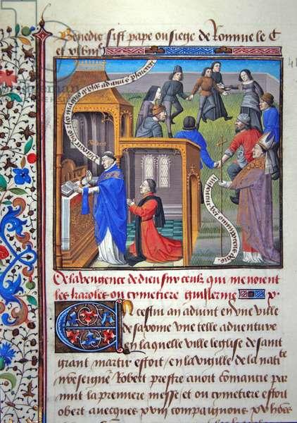 Ms 722/1196 fol.149v, page from Le Miroir Historial by Vincent de Beauvais (vellum)