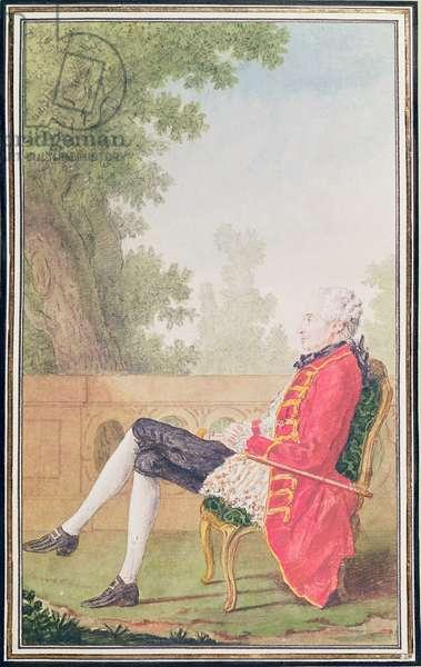 Comte de Croix (pencil, w/c & gouache on paper)