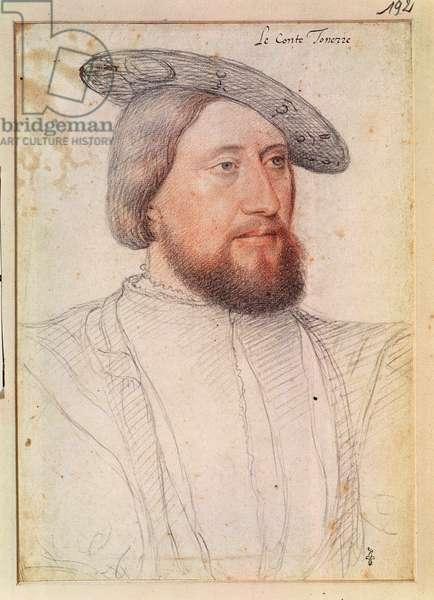 Francois du Bellay (1511-c.1540) c.1540 (pencil on paper)