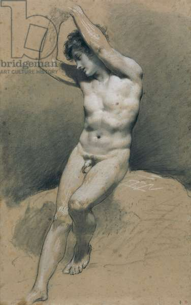 Study of a Young Nude Boy (pencil on paper)
