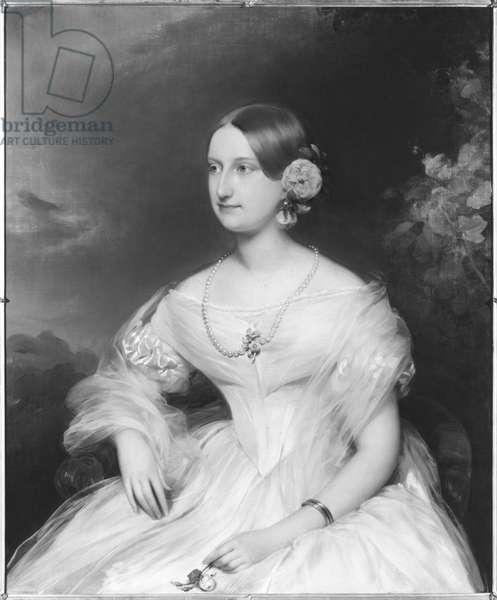 Marie Caroline de Bourbon (1822-60) Duchess of Aumale, 1866 (oil on canvas)