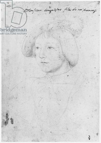 Portrait of Charles (1523-45), Duke of Angouleme, c.1535 (pencil on paper)