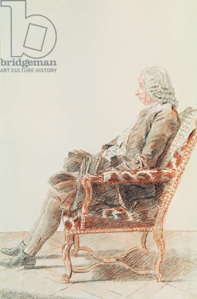 Mr  Bezout 1758  (pencil & red chalk on paper)