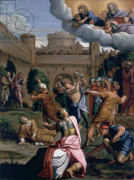 The Stoning of St. Stephen, c.1605-7 (leather)