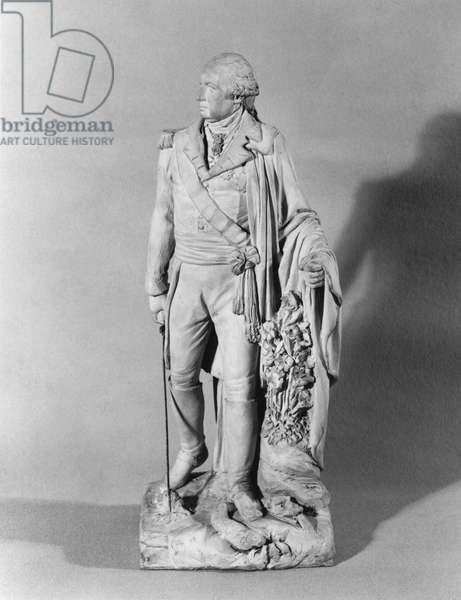 Louis-Joseph de Bourbon (1736-1818) 8th Prince of Conde, c.1815 (terracotta) (b/w photo)