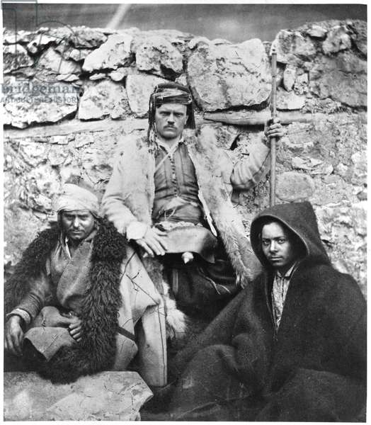 Two Croation Leaders, from the Crimean War, c.1855-56 (b/w photo)