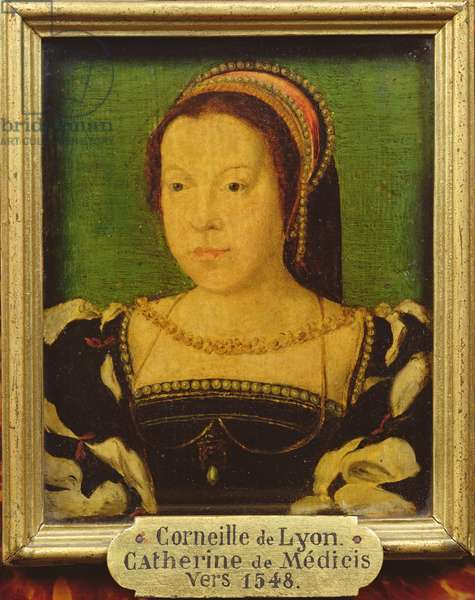 Catherine de Medici (1519-89) c.1548 (oil on panel)