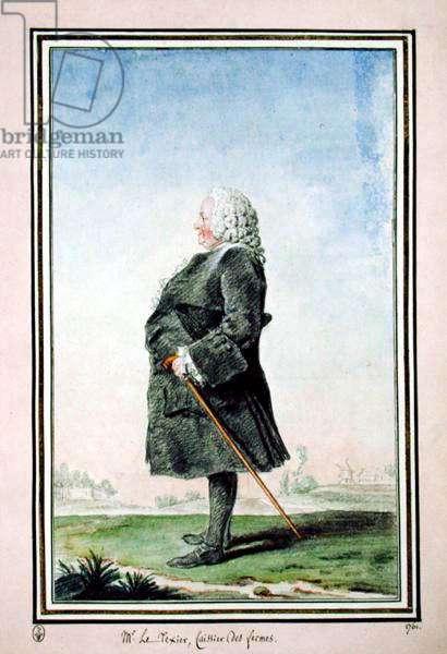Monsieur Le Texier, 1761 (w/c & pencil on paper)