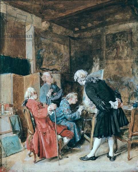 The Amateur Painters (pastel on paper)