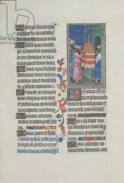 Ms 65/1284 fol. 29r The Ark of the Covenant brought into the Temple, from the Très Riches Heures du Duc de Berry (vellum)