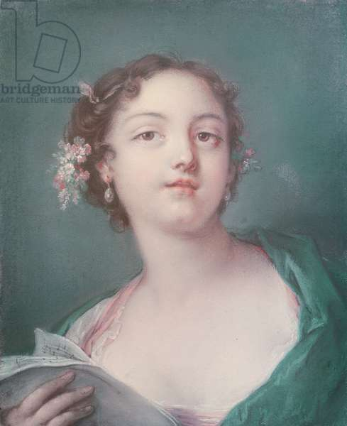 Portrait of a Young Girl (pastel)