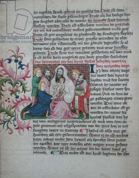 Ms 35/1455 fol.29v  The Life of Christ: The Circumcision (vellum)