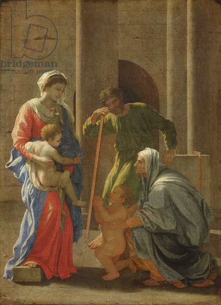 The Holy Family with St. Elizabeth and the Infant St. John the Baptist (oil on canvas)