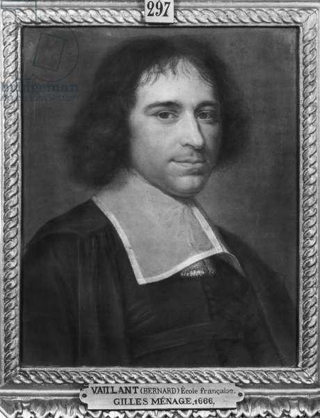 Gilles Menage, 1666 (pastel on paper)