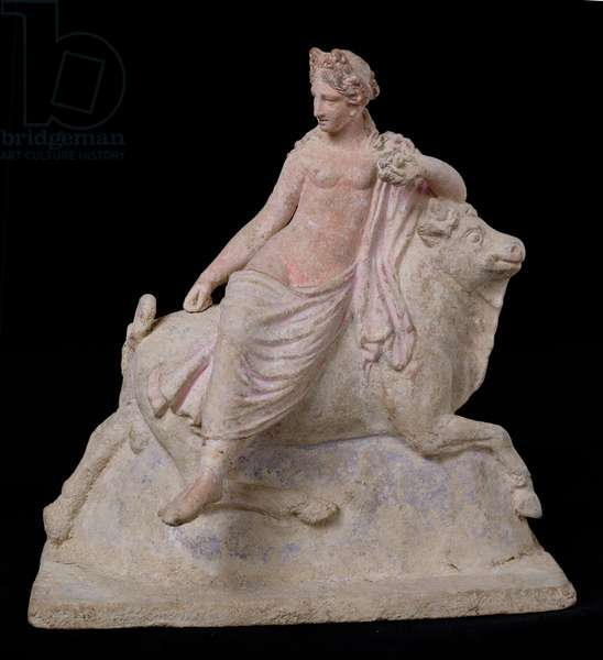 The Rape of Europa, Hellenistic Period (336-30 BC), from Tanagra in Boetia (stone)