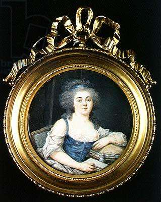 Louise Marie Therese Mathilde d'Orleans (1750-1822) Duchess of Bourbon (oil on panel)